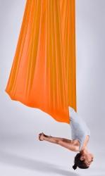 Aerial Yoga Fabric Panel orange pizzaz