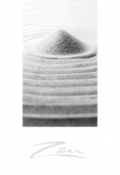 Zen-Briefkarten Steingarten