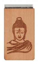 Lesezeichen aus Holz mit Gravur Buddha