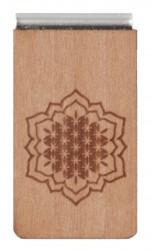 Lesezeichen aus Holz mit Gravur Sonne
