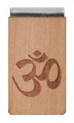 Lesezeichen aus Holz mit Gravur OM