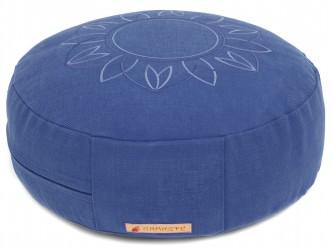 Meditation cushion 'Darshan Neo' - Flower, round blue