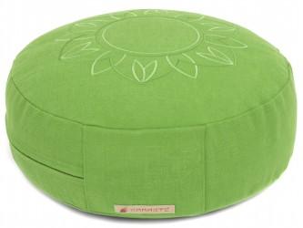 Meditation cushion 'Darshan Neo' - Flower, round green