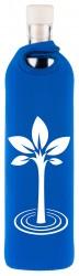 Flaska Trinkflasche NEO DESIGN 0,75 l blau - Baum des Lebens