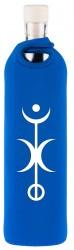 Flaska Trinkflasche SPIRITUAL Neopren - 0,75 l blau - Freiheit
