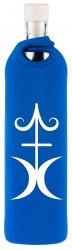 Flaska Trinkflasche SPIRITUAL Neopren - 0,75 l blau - Glück