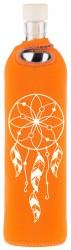 Flaska Trinkflasche SPIRITUAL Neopren - 0,75 l orange - Traumfänger