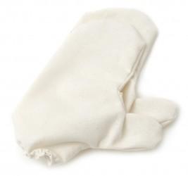 Massagehandschuhe aus Rohseide (1 Paar) fein