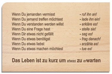 Postkarte aus Holz Wenn...