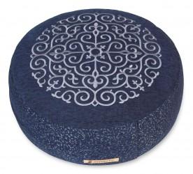 Meditation cushion 'Kabir', round blue