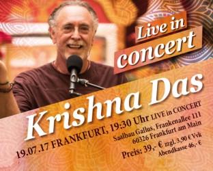 Krishna Das Tickets - Kirtan Wallah Tour Deutschland 2017 ZUSATZ-Konzert Frankfurt - 19. Juli 2017