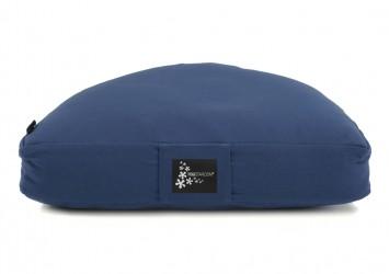 Meditation cushion - half moon dark blue