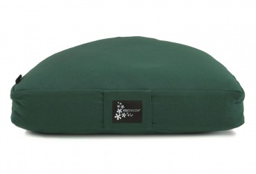 Meditation cushion - half moon green