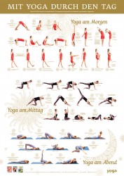 """Yoga Aktuell Abo Deutschland 6 Ausgaben + Poster """"Mit Yoga durch den Tag"""""""
