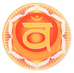 Chakra-Glasuntersetzer Sakral-Chakra
