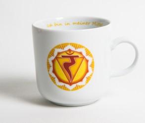 Chakra-Tasse aus Porzellan Solarplexus-Chakra
