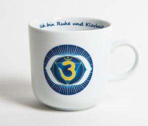 Chakra-Tasse aus Porzellan Stirn-Chakra
