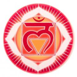 Chakra-Glasuntersetzer Wurzel-Chakra