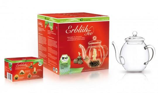 Erblüh-Tee BIO Geschenkset, weißer Tee