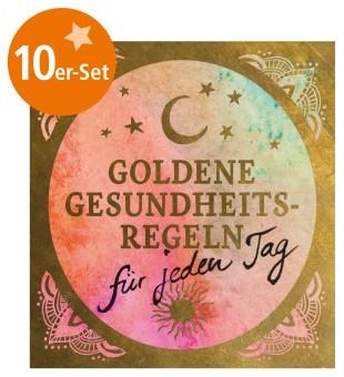 """10er-Set Mini-Heft """"Goldene Gesundheitsregeln für jeden Tag"""""""