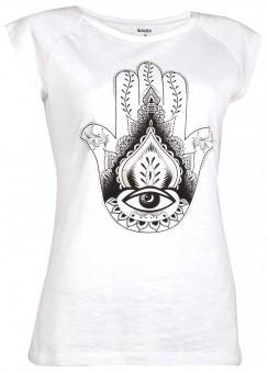 """T-Shirt """"Hamsa"""" - white"""