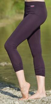 Legging 7/8-lang - aubergine S