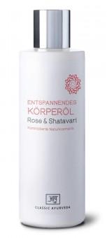 Entspannendes Körperöl Rose & Shatavari, 200 ml