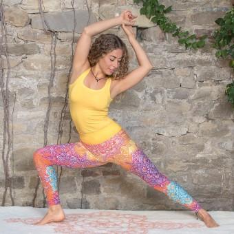 Yoga Leggings - rainbow M