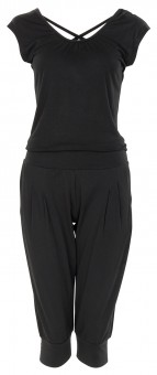 "3/4 Jumpsuit ""Chandra"" - black M"