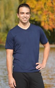 T-Shirt men - dunkelblau L