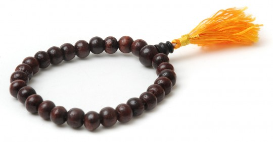 Mala-Armband aus Rosenholz