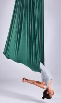 Aerial-Yoga-Tuch dark aqua