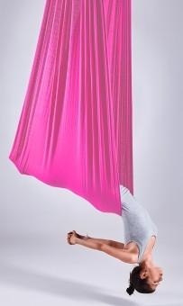 Aerial-Yoga-Tuch hot poppy pink