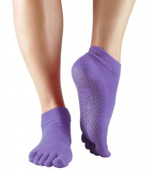 """Toe Socks """"ANKLE"""", closed, purple"""