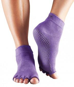 """Toe Socks """"ANKLE"""", open, purple"""