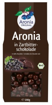 Bio Aroniabeeren in Zartbitterschokolade, 200 g
