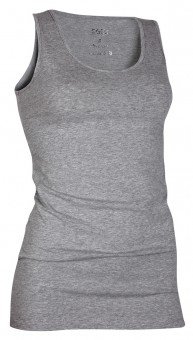 Basic Tank-Top, grey-melange S