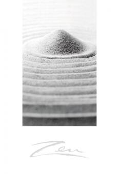 Zen-Briefkarte Steingarten