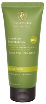 Bio belebender Duschbalsam Ingwer & Limette, 100 ml