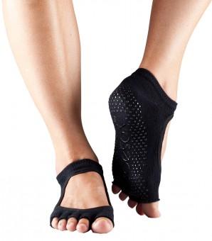 """Toe Socks """"BELLA"""", open, black"""