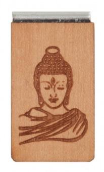 Lesezeichen aus Holz Buddha