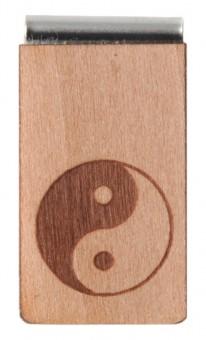 Lesezeichen aus Holz Yin & Yang