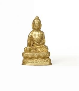 Buddha Statue aus Messing 5 cm