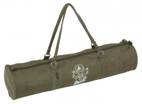 Yogatasche style - zip - velour - art collection - 69 cm olive - Ganesha