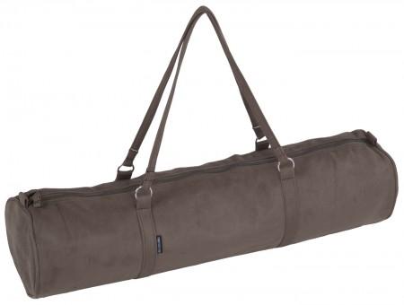 Yogatasche style - zip - velour - 69 cm olive brown
