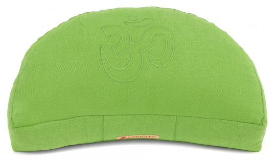 Meditationskissen Darshan Neo - OM - Halbmond grün