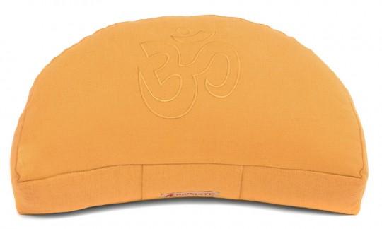 Meditationskissen Darshan Neo - OM - Halbmond orange