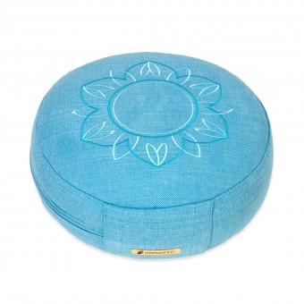Meditation cushion 'Darshan Neo' - Flower, round turquoise