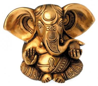 Ganesha aus Messing, 13cm