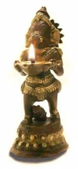 Ganesha Statue - mit Öllampe 13,5 cm